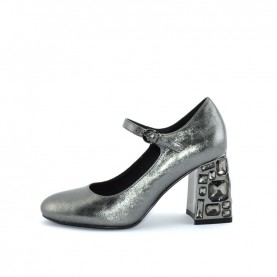 Barachini DD611G gun metal medium heels decoltè