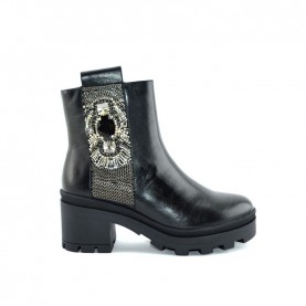 Barachini DD182A black jewels ankle boots