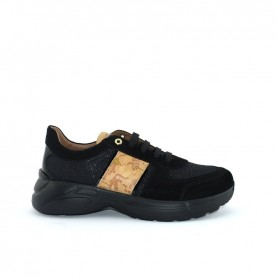 Alviero Martini N0413 black glitter sneakers
