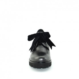 Barachini DD211G gun metal medium heels lace ups shoes