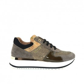 Alviero Martini N0418 taupe glitter sneakers