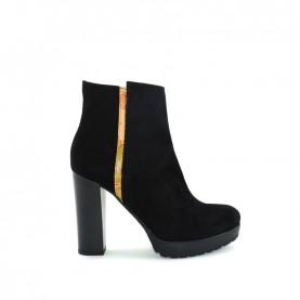 Alviero Martini ZI997 geo black ankle boots