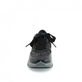 DL Sport 4510 woman black leather sneakers