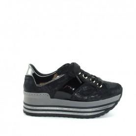 DL Sport 4464 woman black leather sneakers