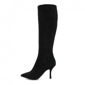 Tiffi N615/80RO black suede medium heels boots