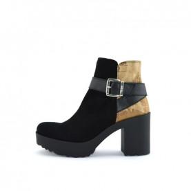 Alviero Martini ZI027 geo black ankle boots