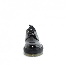 Gaelle G-041 black lace ups shoes