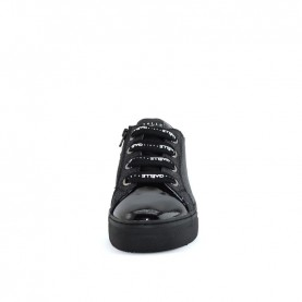 Gaelle G-004 black paillettes sneakers
