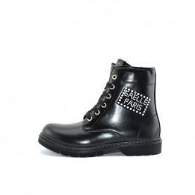 Gaelle G-030 black lace ups ankle boots