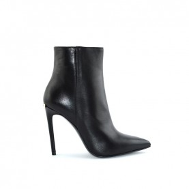 Tiffi N152/100DR black leather ankle boots