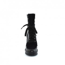 Tiffi K07 black leather lace ups ankle boots
