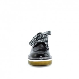 Morelli 50556 black lace ups shoes