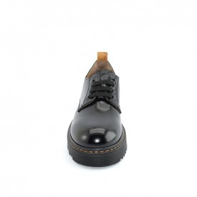 Alviero Martini N0812 black lace ups shoes