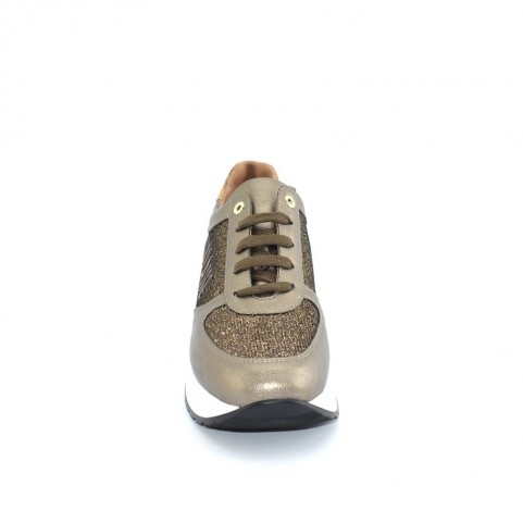 Alviero Martini N0729 bronze and glitter sneakers