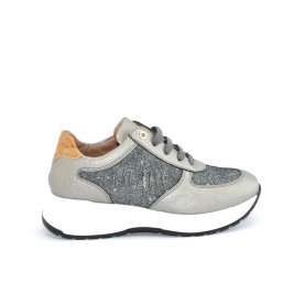 Alviero Martini N0729 grey and glitter sneakers