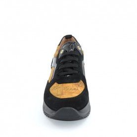 Alviero Martini N0743 black ang geo neakers