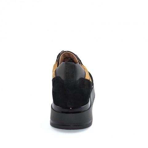 Alviero Martini N0743 black ang geo neakers