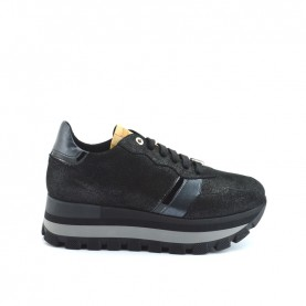 Alviero Martini ZA271 black glitter sneakers