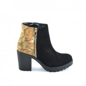 Alviero Martini ZI247 geo black ankle boots