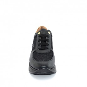 Alviero Martini N0728 black and glitter sneakers