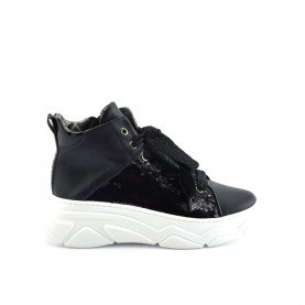 Morelli 51003 black sneakers with paillettes