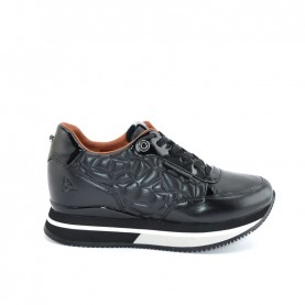 Apepazza R0RSD03 black matelassè woman sneakers