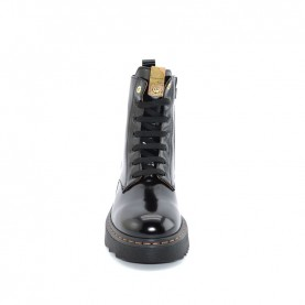 Alviero Martini N0816 black lace ups ankle boots