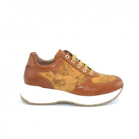Alviero Martini N0725 leather and geo neakers