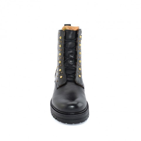 Alviero Martini N0787 black lace ups ankle boots