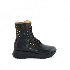 Alviero Martini N0735 black lace ups ankle boots