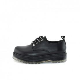 Gaelle G-443 black lace ups shoes
