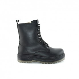 Gaelle G-441 black lace ups ankle boots