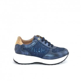 Alviero Martini N0729 blue and glitter sneakers