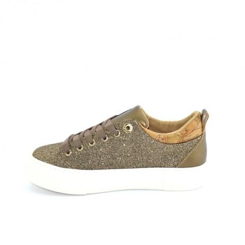 Alviero Martini 10692 bronze glitter sneakers