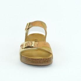 Alviero Martini 2330 woman leather geo platinum sandals