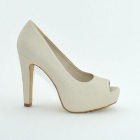 Barachini 8101R bone leather high heels open toe shoes