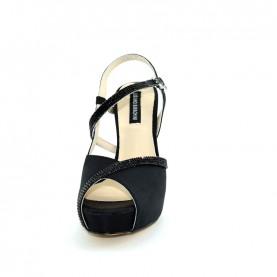 Barachini 8581D black elegance high heels sandals