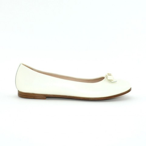 Morelli B54625A milk leather girl flat shoes