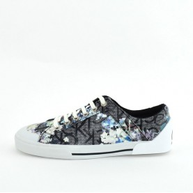 Calvin Klein CK Giselle black logo and flowers woman sneakers