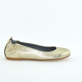 Lilimill 5034 woman flat shoes gold laminated leather