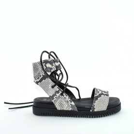 Lilimill 6315 woman platform rock leather sandals