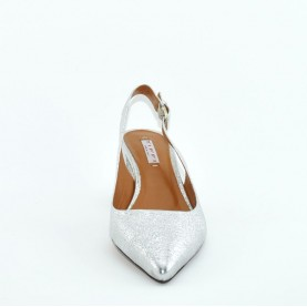 Tiffi N561/A50 sling back silver leather