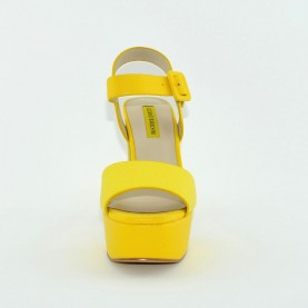 Barachini 8073T multi yellow leather high heels sandals