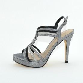 Menbur 07528 001 black glitter high heels sandals