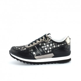 Apepazza DLY34 black silver woman sneakers