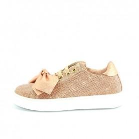 Morelli 00686 powder pink glitter sneakers