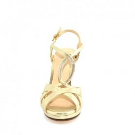 Menbur 09616 000 gold glitter high heels sandals