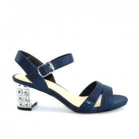 Menbur 07405 021 blue glitter low heels sandals