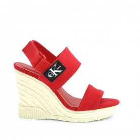 Calvin Klein CKJ Lacey red high wedge sandals