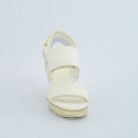 Calvin Klein CKJ Lacey white high wedge sandals